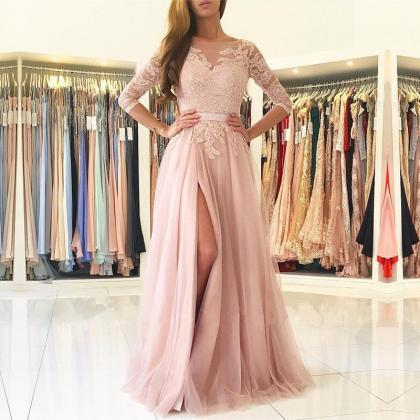 Charming Opening Back Prom Dress, R..