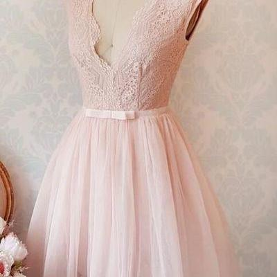 Elegant Prom Dress,Sleeveless Pink ..