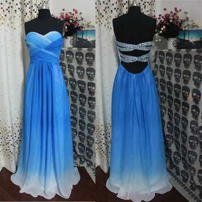 long prom dress, gradient prom dres..