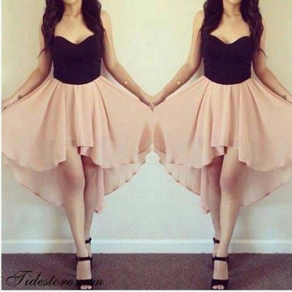 Cute Short Black Prom Dress, Sweeth..