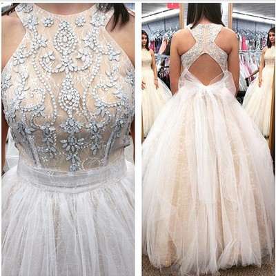 White Long Prom Dress, 2017 White L..