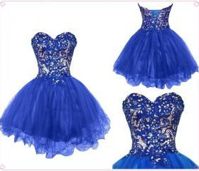 Royal Blue Ball Gown..