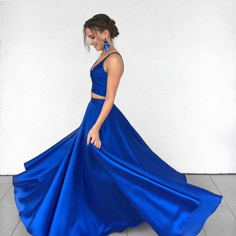 c8f9e087d16fe two piece prom dresses,royal blue prom dresses,2 piece prom gowns,satin