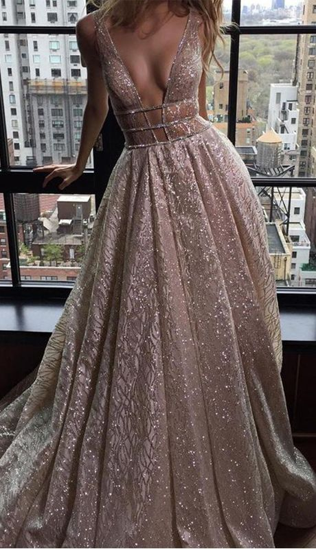 Sexy Deep V-neck Sleeveless Court Train Prom Dress Backless with Sequins  prom 1a474960f
