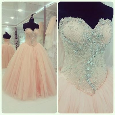 Charming Sweetheart Beading Long Prom Dress,Lace-up Evening Dress ,Ball Gown Prom Dresses