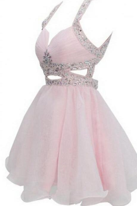 Backless A-line Organza Sweetheart Empire Short Homecoming Dress