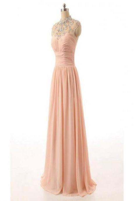 long prom dress,evening prom dress , sleeveless dress,pink prom dress ,affordable bridesmaid dress,cheap bridesmaid dress,discount bridesmaid dress