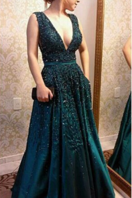 Charming Sexy Prom Dress, Appliques Evening Dress, Formal Evening Dress