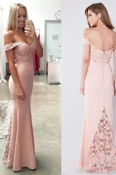 Off the Shoulder Mermaid Prom Dresses Sexy Cheap Formal Dresses