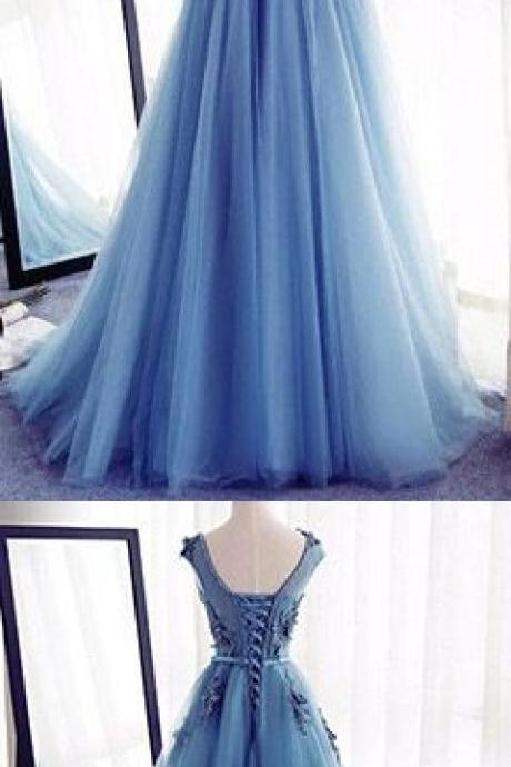 Appliques A-Line Prom Dresses,Long Prom Dresses 2017,Cheap Prom Dress, Evening Dresses Prom Gowns,Formal Women Dress