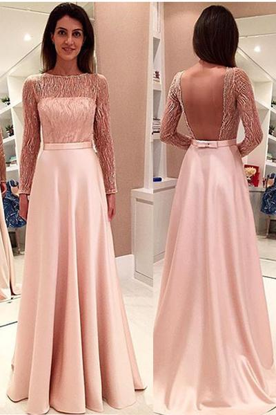 Glamorous Long Sleeveless Open Back Prom Dresses Evening Dresses