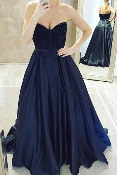 Ball Gown Sweetheart Floor Length Prom Dresses Long Evening Gown