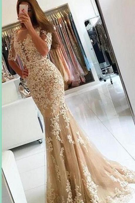 Lace Prom Dress,Mermaid Prom Dress,Fashion Prom Dress,Sexy Party Dress