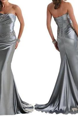 Mermaid prom dresses, grey prom dress, sexy prom dresses, prom dresses 2017, long prom dresses