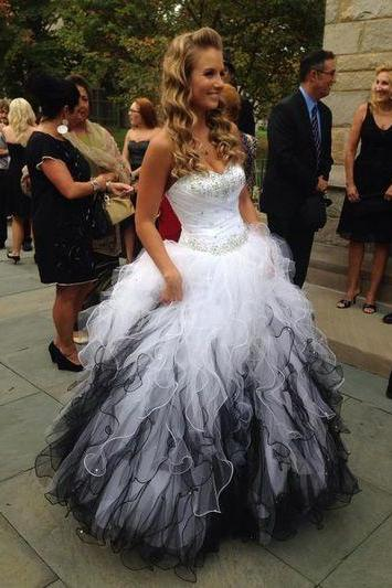 Ball Gown Sweetheart Lace-up Long Prom Dress/Prom Gown/Evening Dress