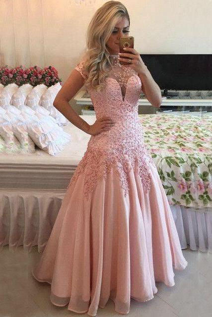 New Arrival Sexy Evening Dress,Pink Prom Dress,Mermaid Formal Dress