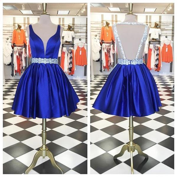 Cute Short Prom Dress Homecoming Dress , Royal Blue Short Prom Dress,Chic Homecoming Dress