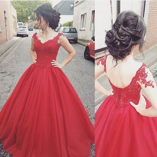New Style Fashion Prom Gowns, Long Prom Dresses,Red Evening Gowns, Red Prom Gowns, Ball Gown Prom Gowns