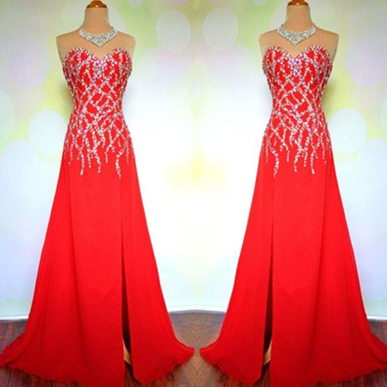 Charming Prom Dress,Sleevelss Chiffon Prom Dress,Sexy Party Dress,Long Evening Dress,Formal Dress