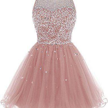 Bbonlinedress Short Tulle Beading Homecoming Dress