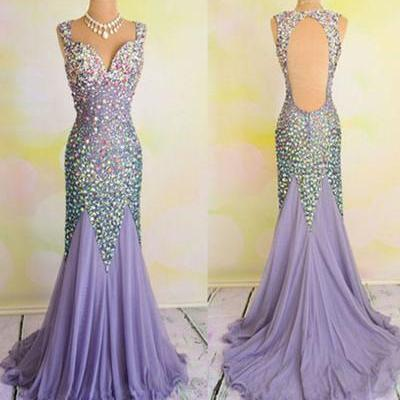 Beading Mermaid Lace Prom Dress,Evening Dress,Prom Dresses
