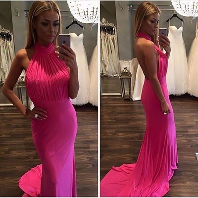 Halter Simple Custom Made Long Prom Dress,Evening Dress,Charming Prom Dresses