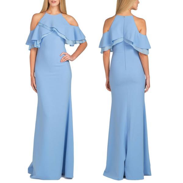 Frilled Cold Shoulder Long..
